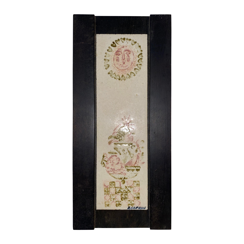 Roger Capron Decorative Ceramic Plaque