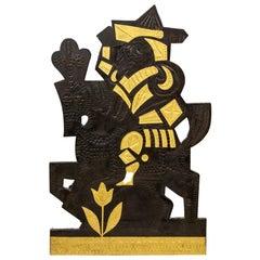 Roger Capron, Decorative Panel in Lead, 1960's