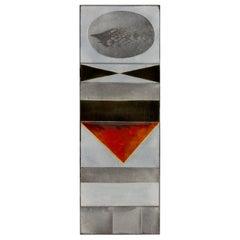 """Roger Capron """"Glazed Lava"""" Ceramic Tile Panel, France, 1960s"""