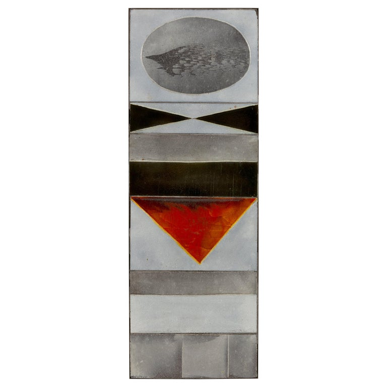"Roger Capron ""Glazed Lava"" Ceramic Tile Panel, France, 1960s For Sale"