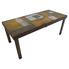 Roger Capron, Glazed Lava Tile Coffee Table, 1962