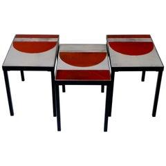 Roger Capron, Gruppe von 3 Tischen, Frankreich, ca. 1965
