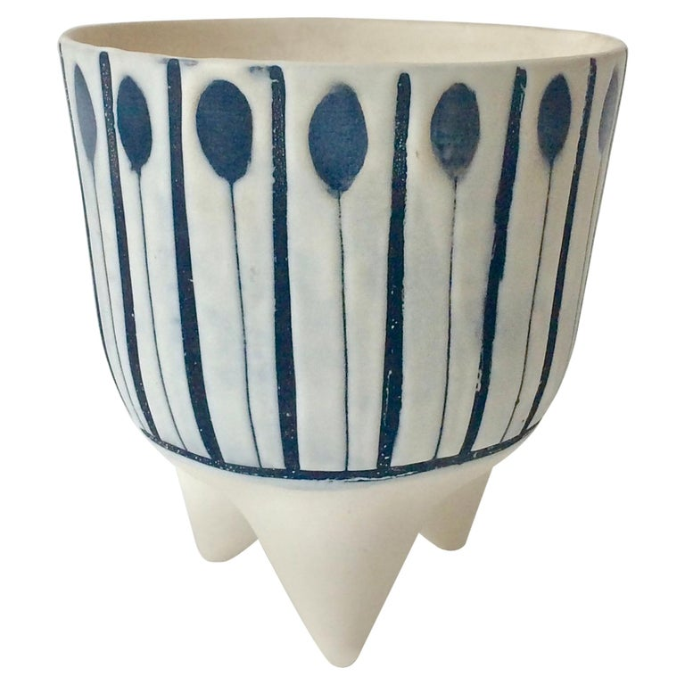 "Roger Capron ""Molaire"" Vase, circa 1950, France For Sale"