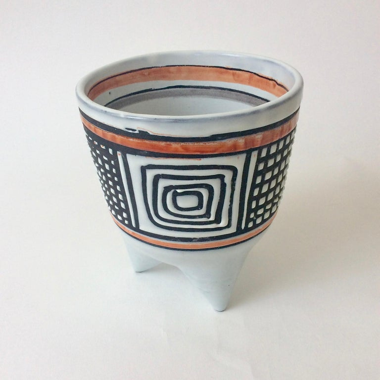 Mid-Century Modern Roger Capron Molaire Vase, circa 1957, France For Sale