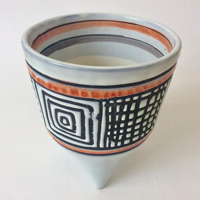 Roger Capron Molaire Vase, circa 1957, France For Sale 1