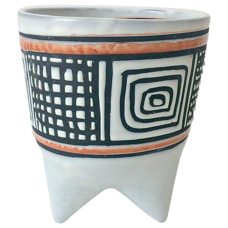 Roger Capron Molaire Vase, circa 1957, France For Sale