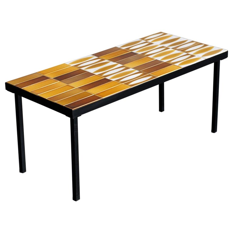 """Roger Capron, """"Navette"""" Coffee Table, 1960 For Sale"""