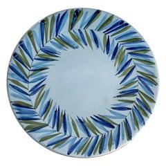 Roger Capron Plate with Leaf Motif