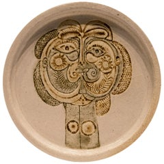 Roger Capron Plate with Relief Portrait