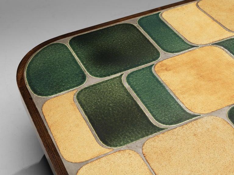 Mid-Century Modern Roger Capron 'Shogun' Coffee Table in Ceramic and Mahogany