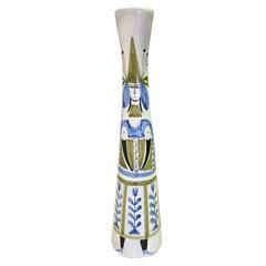 Roger Capron Signed Tall Vallauris Ceramic Mid-Century Modern Art Pottery Vase
