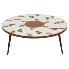 Roger Capron Style Ceramic Tile Coffee Table