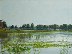 Roger Chapelain-Midy, The Pool, Oil on Canvas, 1956