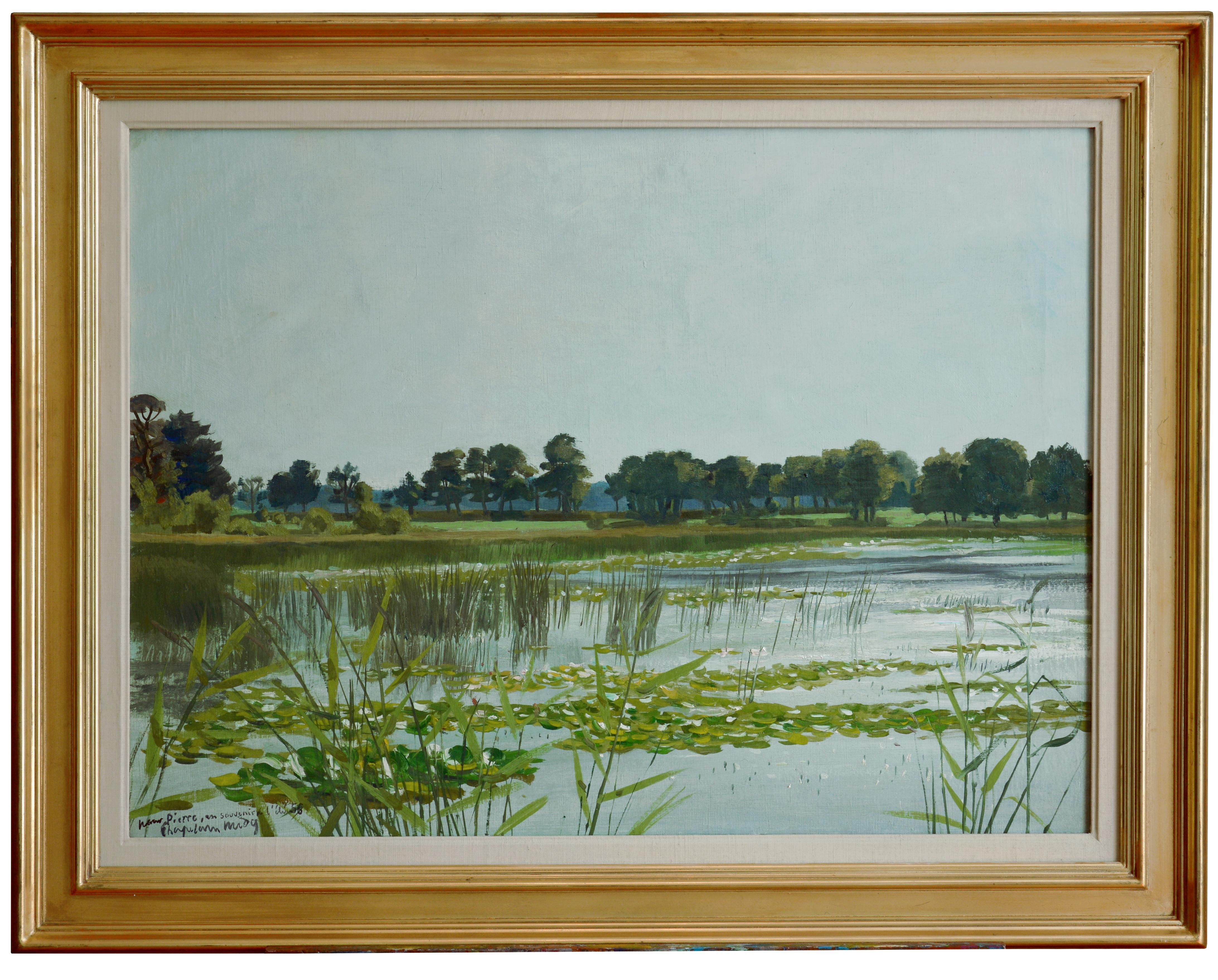 Roger Chapelain Midy, The Pool, Oil on Canvas