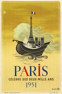 Paris 2000 Anniversary 1951, original vintage Poster