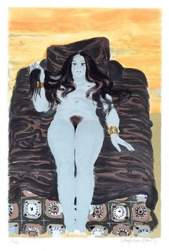 The Rest - Original Lithograph by R. Chapelain-Midy - 1970s