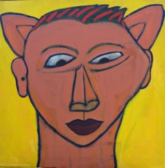 Fox Face, Contemporary Outsider Figurative Art