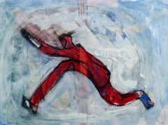 Man Running Through Time:  Contemporary Outsider Gouache and Ink