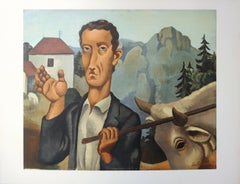 Man with a Beef - Lithograph, Mourlot