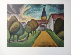 Small Village - Lithograph, Mourlot
