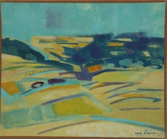 Abstracted French Landscape by Roger Derieux c1955