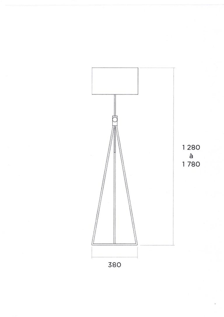 French Roger Fatus 503 Stainless Steel Standing Lamp 'Variable Height' by Disderot For Sale