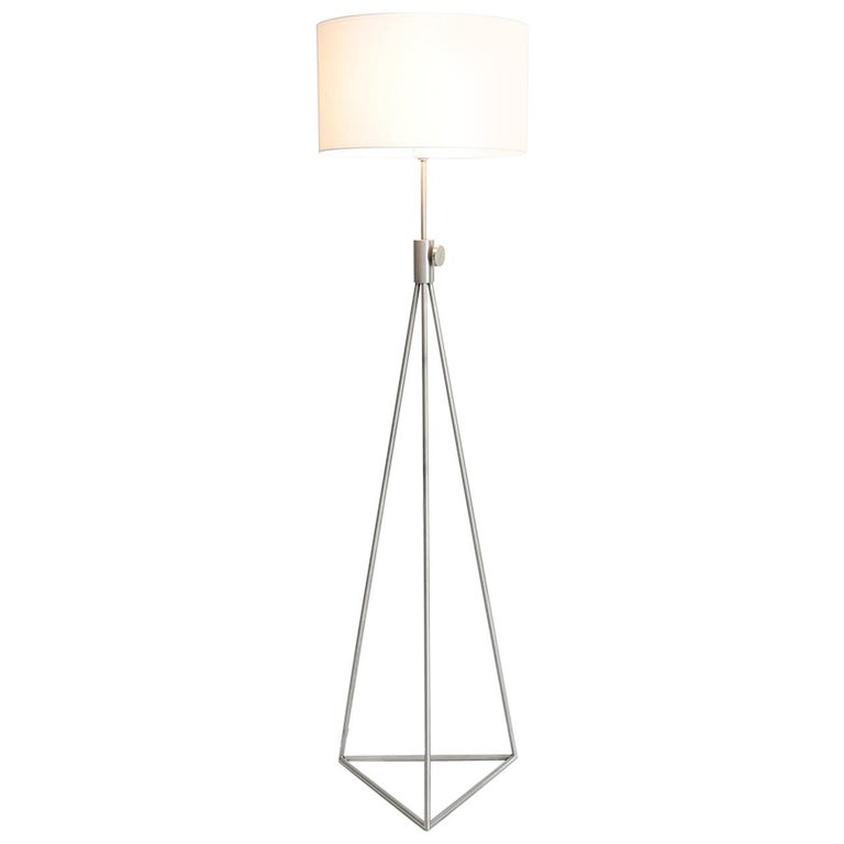 Roger Fatus 503 Stainless Steel Standing Lamp 'Variable Height' by Disderot For Sale