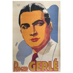 Roger Gerle, Original Vintage French Poster by Hartford, 1940