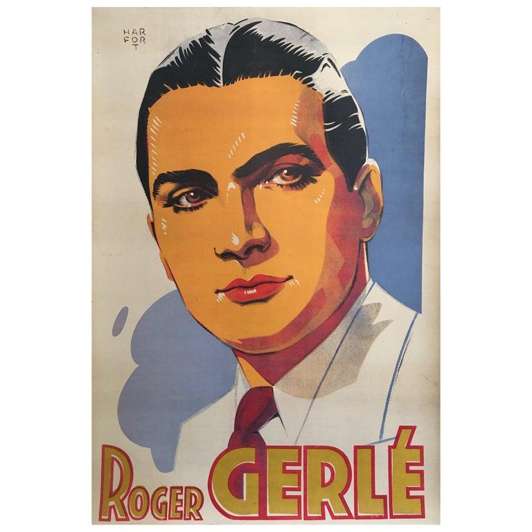 Roger Gerle, Original Vintage French Poster by Hartford, 1940 For Sale