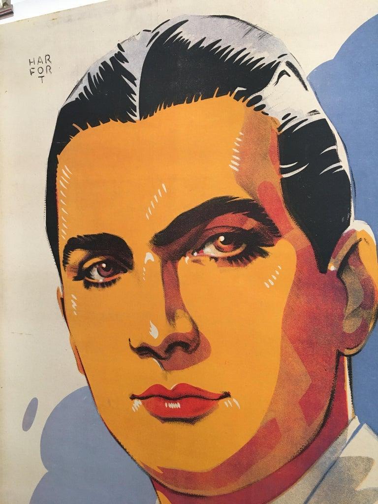Art Deco Roger Gerle, Original Vintage French Poster by Hartford, 1940 For Sale