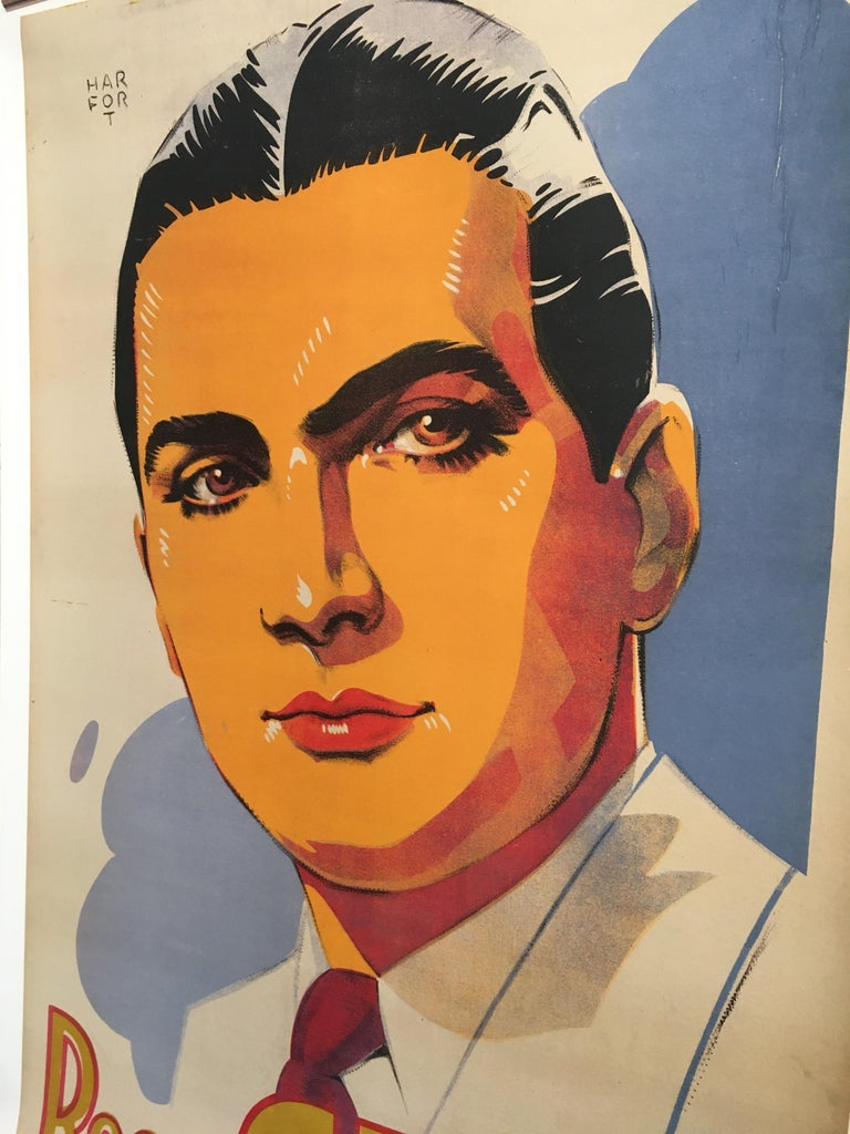 Roger Gerle, Original Vintage French Poster by Hartford, 1940 In Good Condition For Sale In Melbourne, Victoria