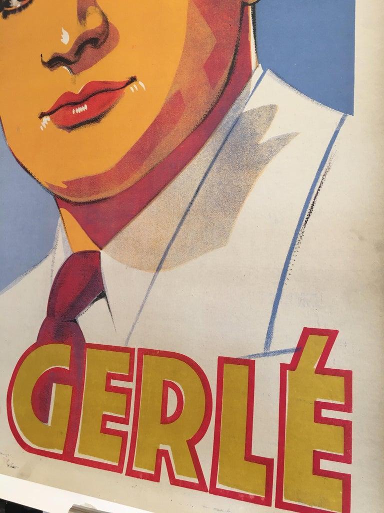 Paper Roger Gerle, Original Vintage French Poster by Hartford, 1940 For Sale