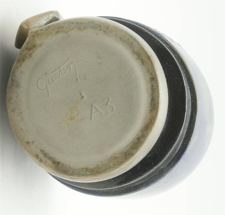 Roger Guerin Bouffioulx Belgian Art Pottery Jar with Lid, 1927 Signed For Sale 3