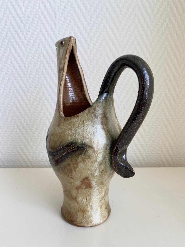 Belgian Roger Guérin, Exceptional Hand Crafted Decanter or Vase, Ca. 1930 For Sale