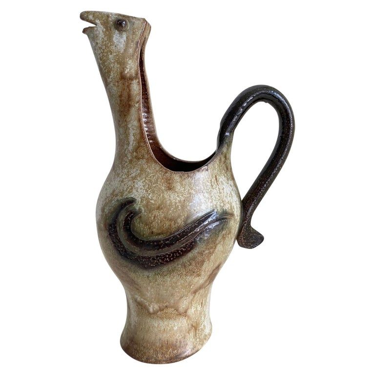 Roger Guérin, Exceptional Hand Crafted Decanter or Vase, Ca. 1930 For Sale