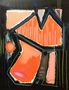 ROGER HERSON (1922-2008) SIGNED FRENCH 20thC ABSTRACT PAINTING - ROUEN PAINTER