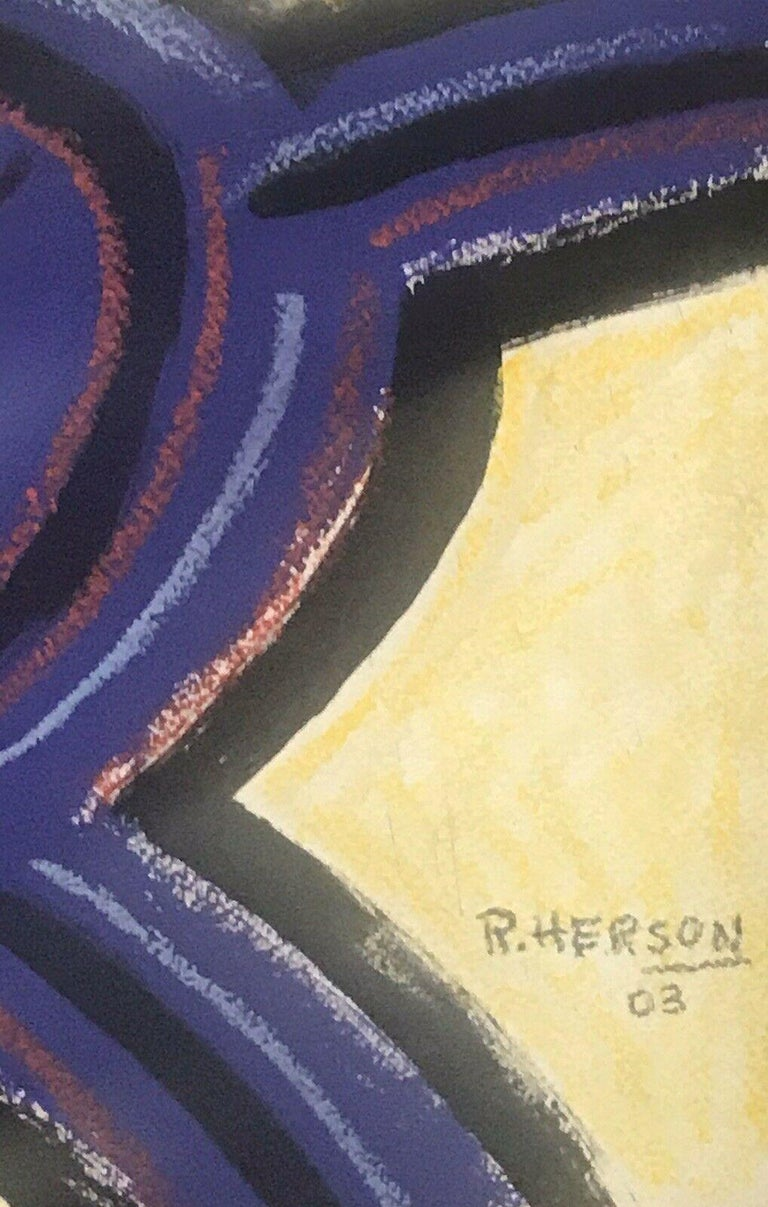ROGER HERSON (1922-2008) SIGNED FRENCH ABSTRACT PAINTING - FIGURATIVE STUDY For Sale 2