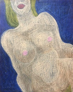 SIGNED FRENCH ABSTRACT NUDE PAINTING - ROUEN PAINTER