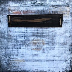 """""""Abstract Antique Ebony Wall"""" Abstract, Seascape Painting, 21st Century, Acrylic"""