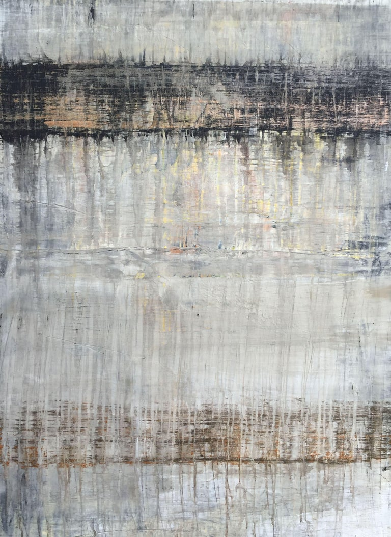 """Roger König Abstract Painting - """"1091 Drips Serie V antique abstract"""", Painting, Acrylic on Canvas"""