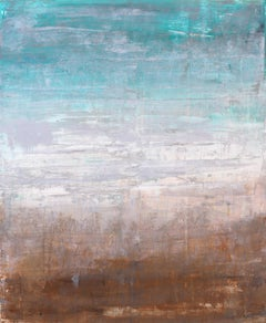 """1092 abstract turquoise/white Abstract, Landscape Painting, 21st Century, Acryl"