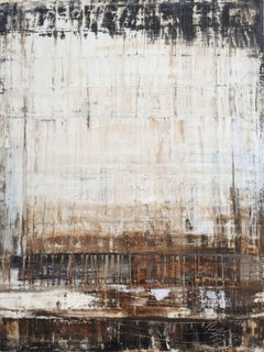 """1135 abstract antique brown"", Painting, Acrylic on Canvas"