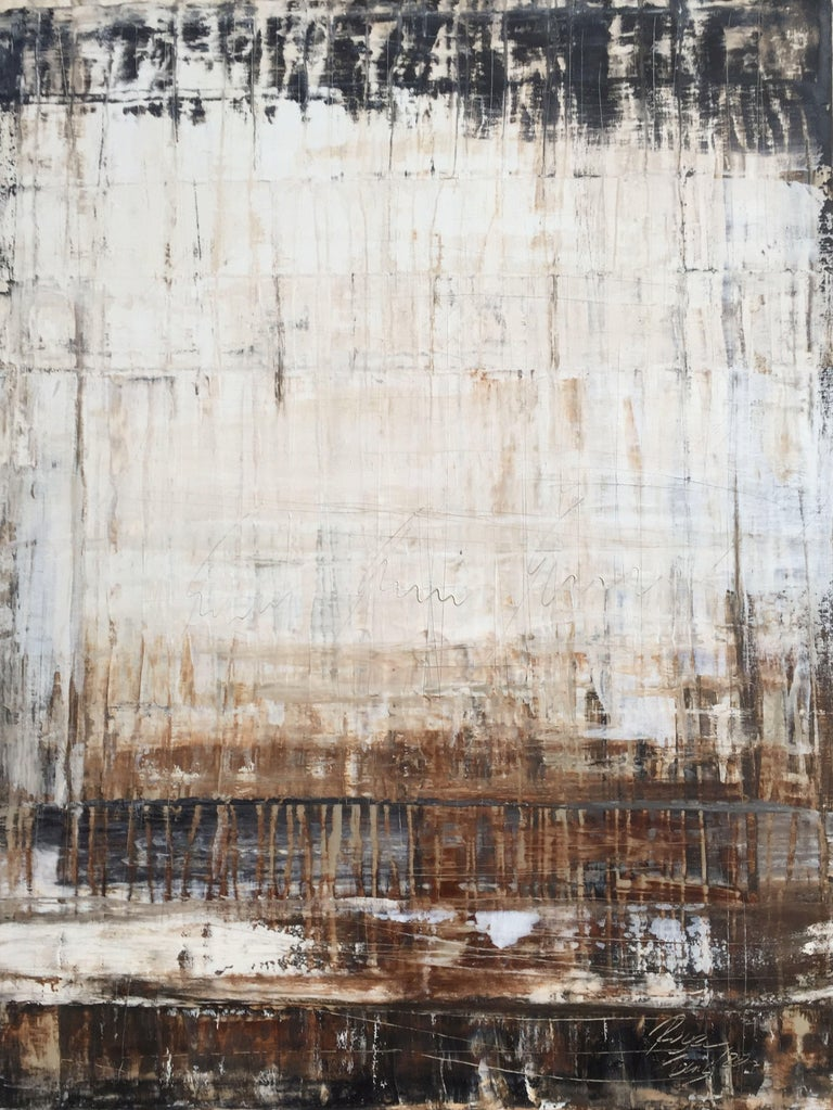 """Roger König Abstract Painting - """"1135 abstract antique brown"""", Painting, Acrylic on Canvas"""