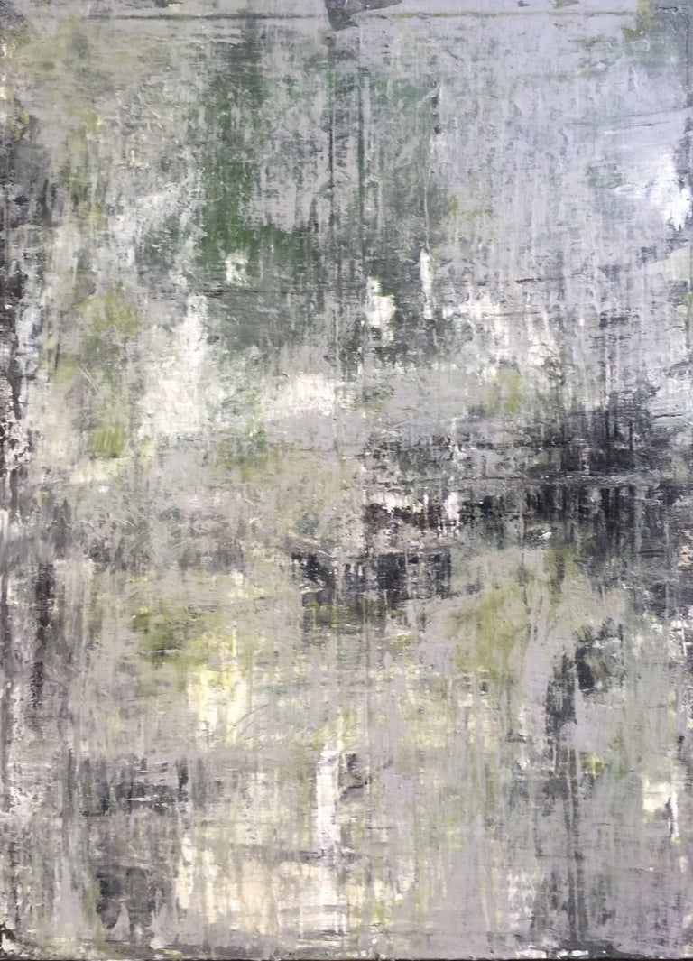 """Roger König Abstract Painting - """"1159 abstract old green"""", Painting, Acrylic on Canvas"""
