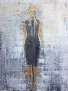 """1185 abstract fashion"" - Abstract, Figurative Painting, 21st Century, Acrylic"