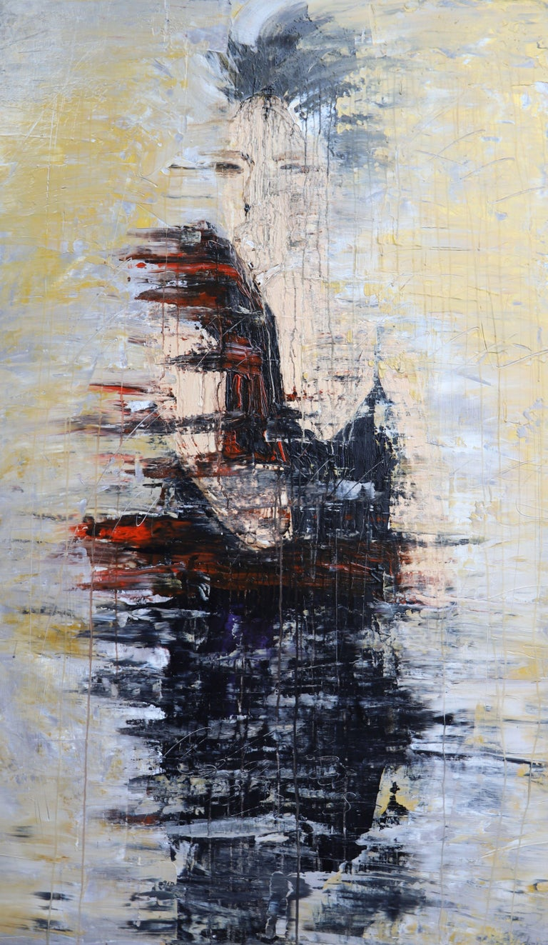 """Roger König Abstract Painting - """"1205 abstract gold fashion"""", Painting, Acrylic on Canvas"""