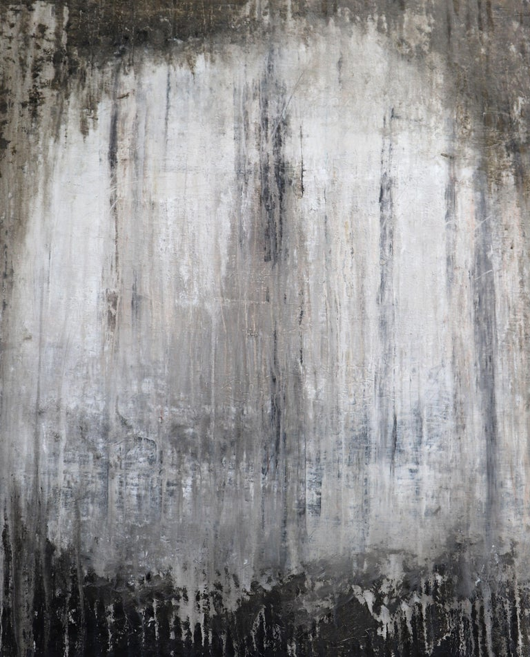 """Roger König Abstract Painting - """"1213 abstract antique wall"""", Painting, Acrylic on Canvas"""