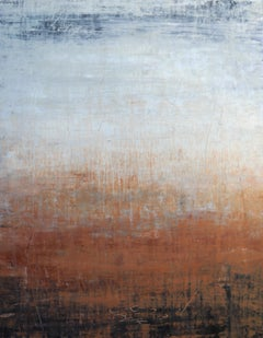 """1249 brown/grey elegance"" - Abstract, Landscape Painting, 21st Century, Acrylic"