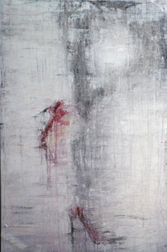 """""""1268 Red High Heels"""" Abstract, Figurativ Painting, 21st Century, Acrylic"""