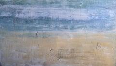 """1274 Grace Bay Beach"" Abstract, Seascape Painting, 21st Century, Acrylic"